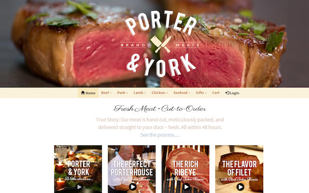 Porter And York Woocommerce Design Example