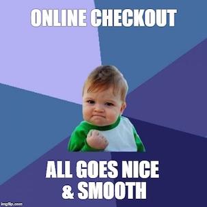 Online Checkout Meme