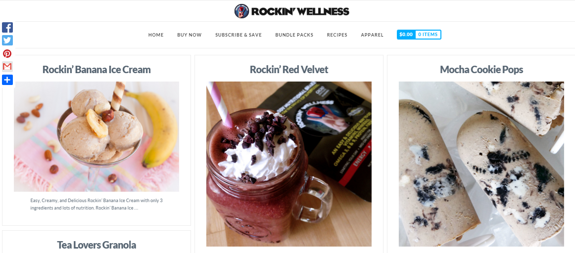 Rockin' Wellness content marketing example