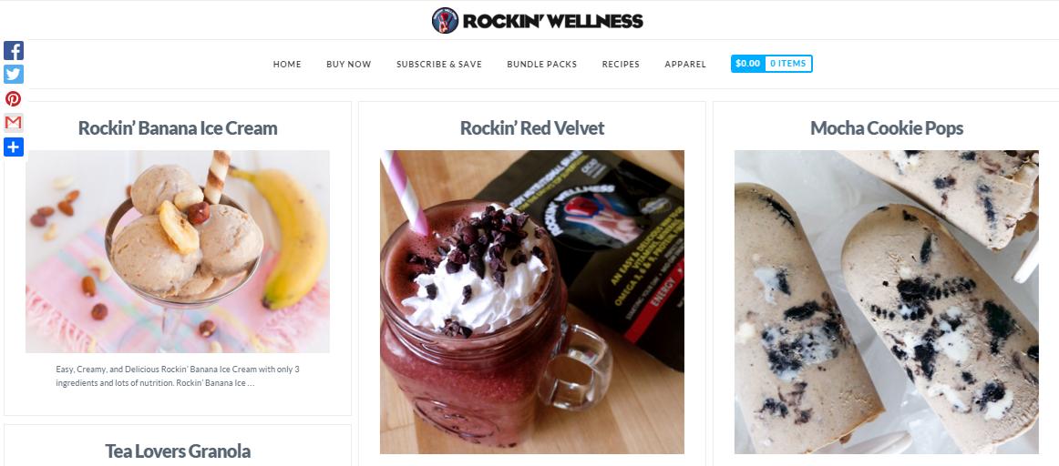 Rockin' Wellness content marketing example