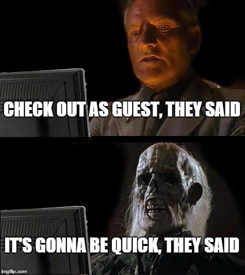 quick checkout meme
