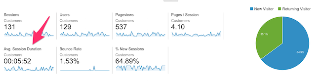 Audience Overview Google Analytics 1