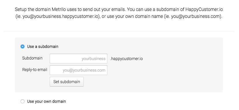 Sending Ecommerce Email Subdomain
