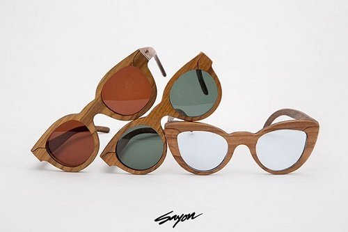 Sayon Wood Frame Sunglasses