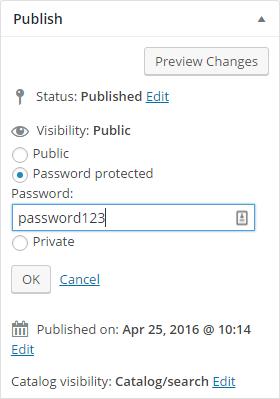 Password Protect Example