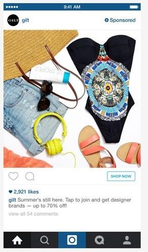 Instagram Shop Now Example