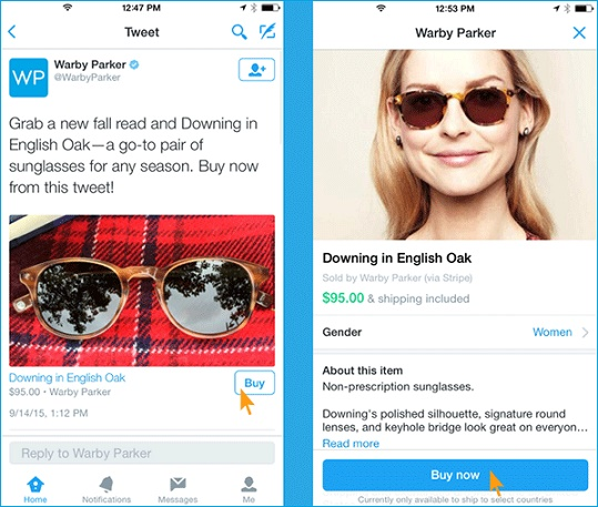 Twitter Buy Button Example