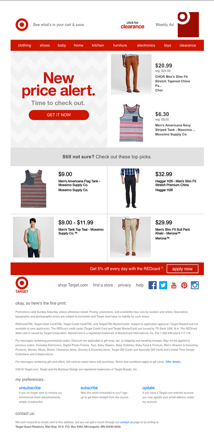 Cross Sell Email Template Fashion Store