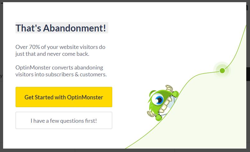 Optinmonster Pop Up
