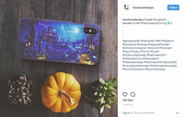 Phonecase Store Halloween Example