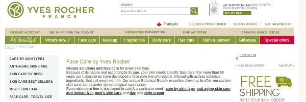 Yves Rocher Filters
