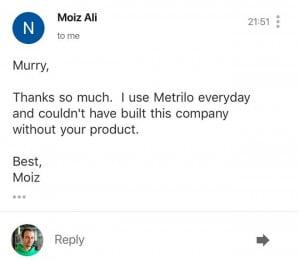 Moiz Ali About Metrilo