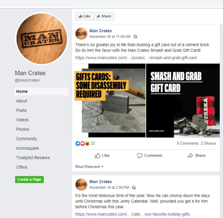 Mancrates Fb Page