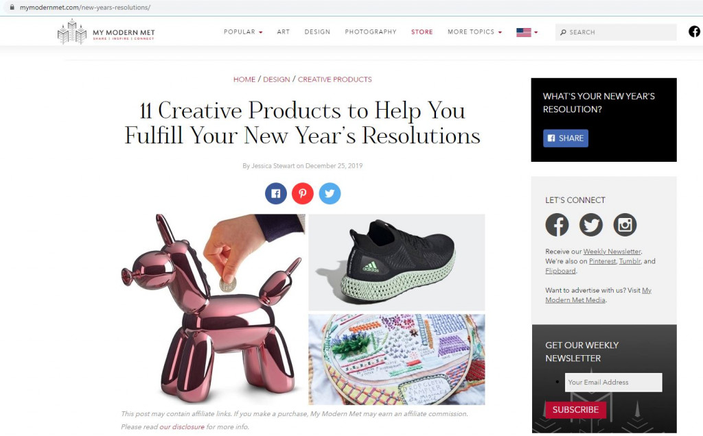 Article New Year's Resolutions 1