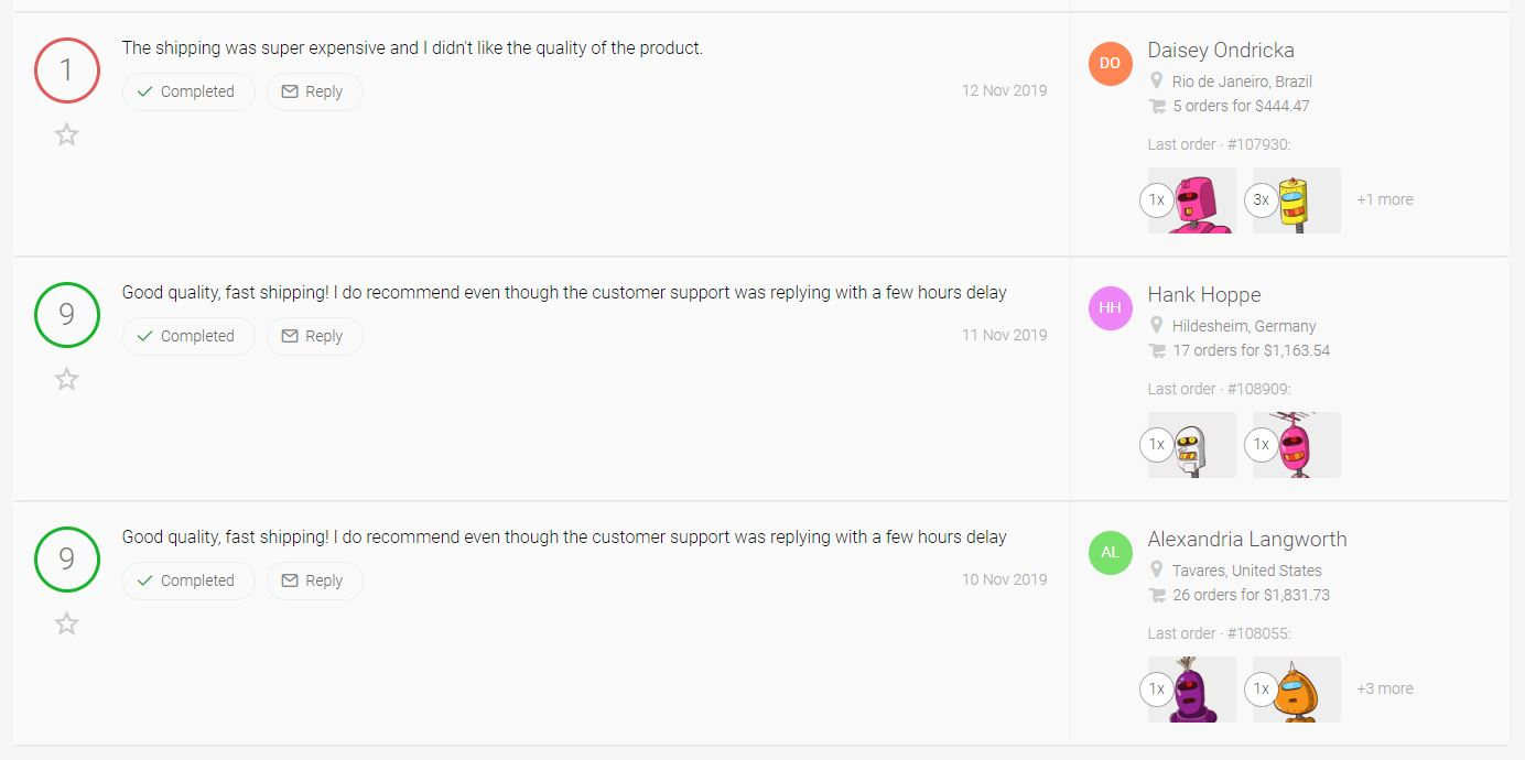 Customer Feedback In Metrilo