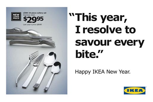 Ikea New Year's Resolution 2