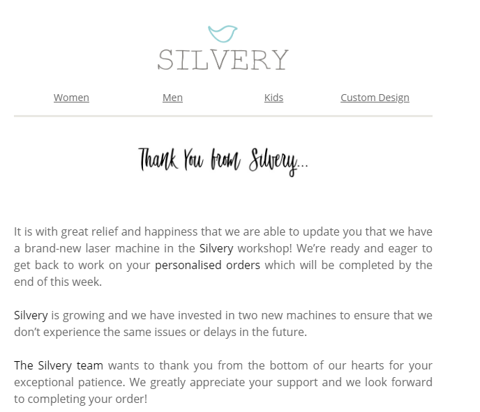 Silvery Email 2