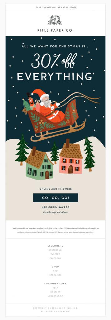 Seasonal Email