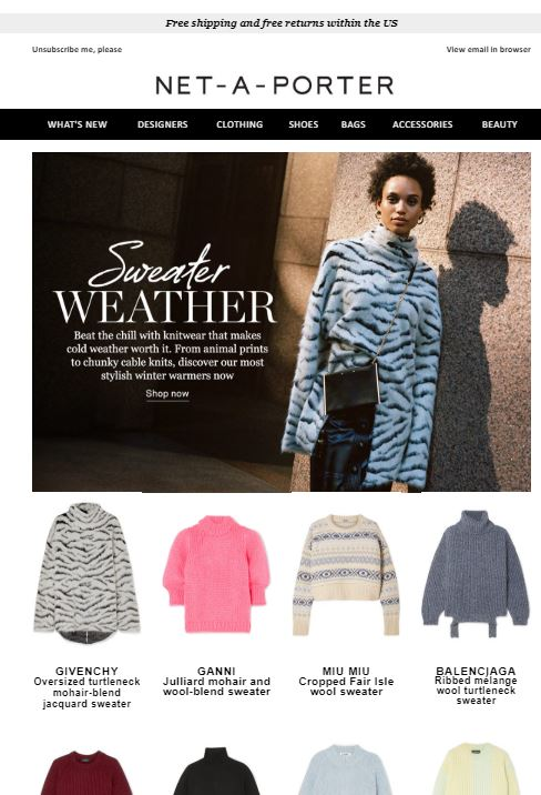 Sweater Email