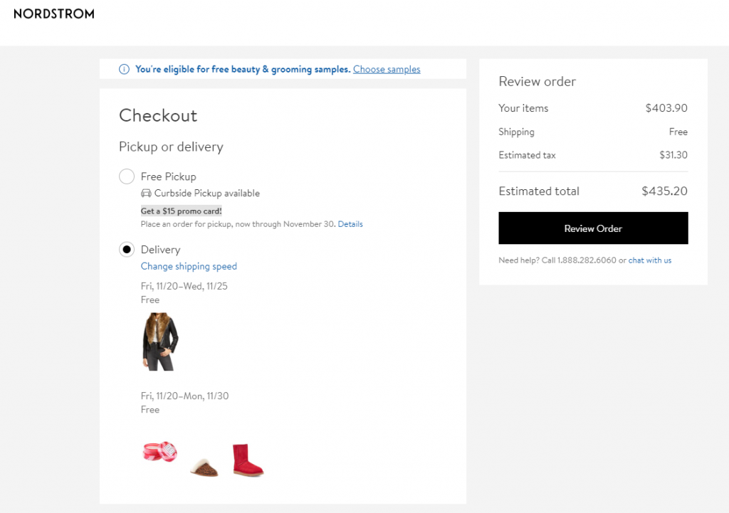 Nordstrom Checkout Zoom
