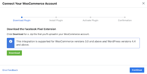 Connecting Facebook To Woocommerce
