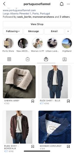Instagram Shop Brand