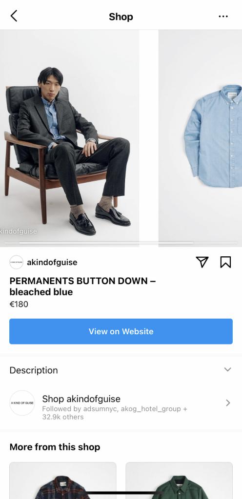 Instagram Shoppable Post